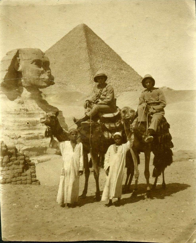 Гиза. Сфинкс и Пирамиды 1916