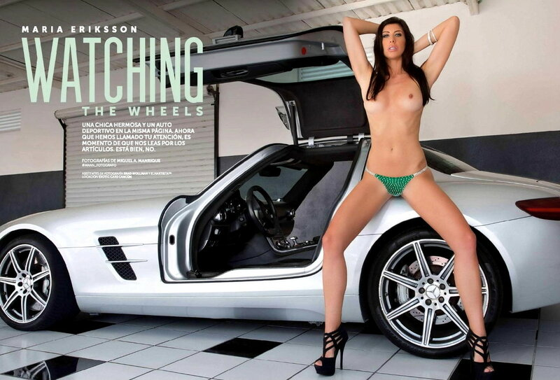 Maria Eriksson and Mercedes in Playboy