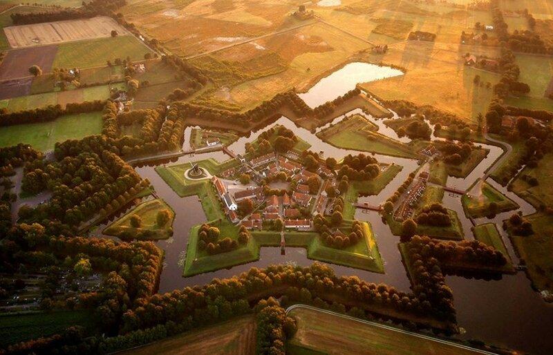 Форт в Нидерландах (фото с помощью беспилотника)