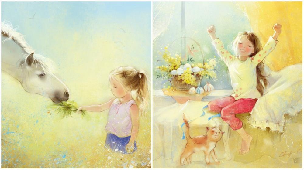 Екатерина Бабок — художница—иллюстратор детских книжек изБеларуси. Еетеплые работы окунают вбезз