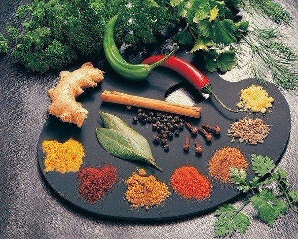 Для рагу: гвоздика, красный перец, мускатный орех, имбирь, душистый перец, куркума, черный перец