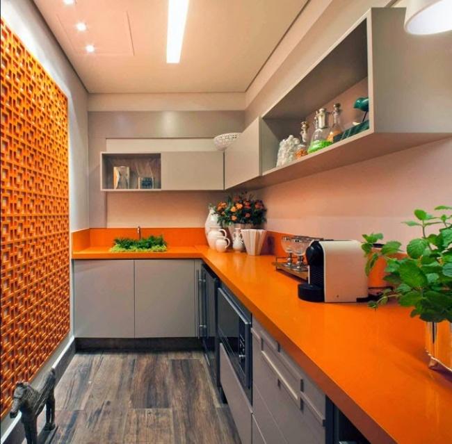 Теплый иприятный оранжевый цвет создает чувство благополучия иулучшает аппетит. Онотлично будет с