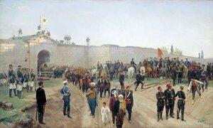 Сдача крепости Никополь 4 июля 1877 года