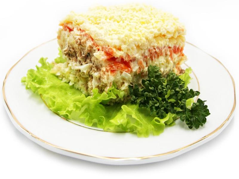 Салат мимоза с сёмгой рецепт