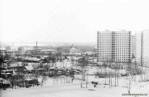 Старое Солнцево зимой. Справа новые дома Авиаторов 8 Фото Рушан Зарипов #Солнцево