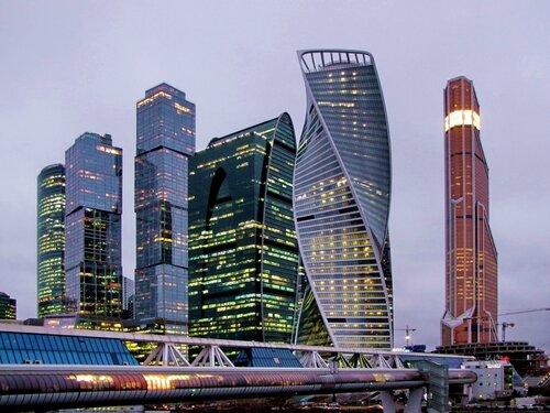 Москва-Сити вечером