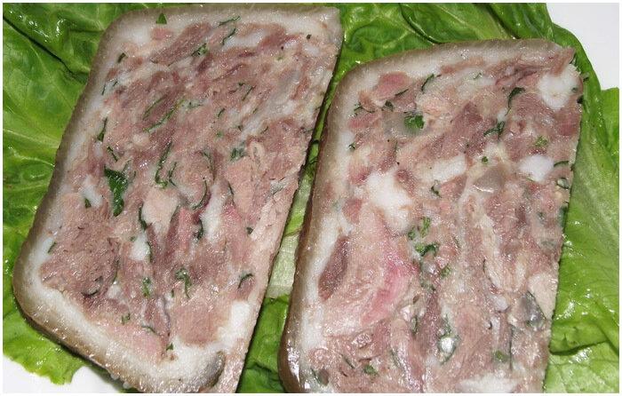Рецепты из свиной головы