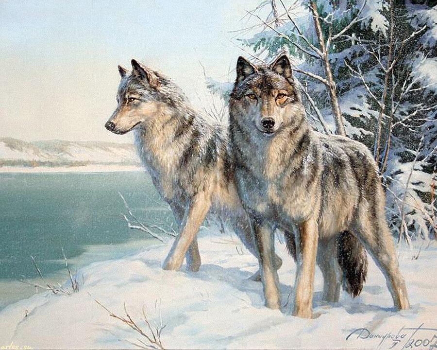 Подскажите как вставить ссылку в, Волки пара была сделана схема вышивки, Схема вышивки, Волки пара Вышивка крестом из...