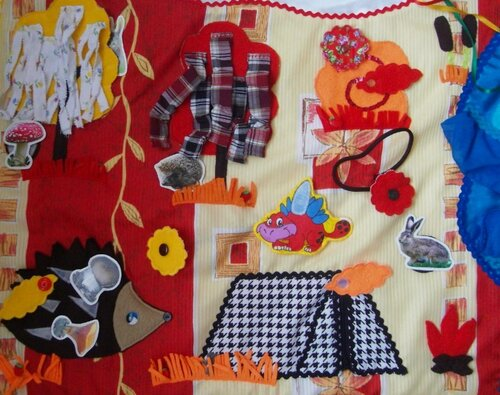 Детский развивающий коврик Семьландия... игровая зона Осень