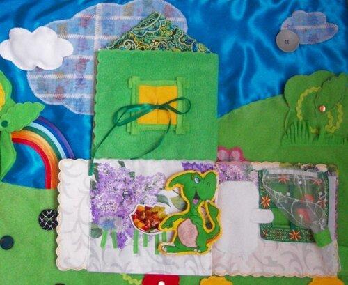 Развивающий коврик Семьландия... Волшебный домик... столовая, холодильник, окно