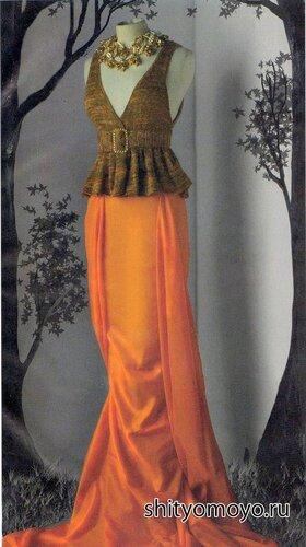 Кофточка-жилет, связанная спицами. Бесплатное описание