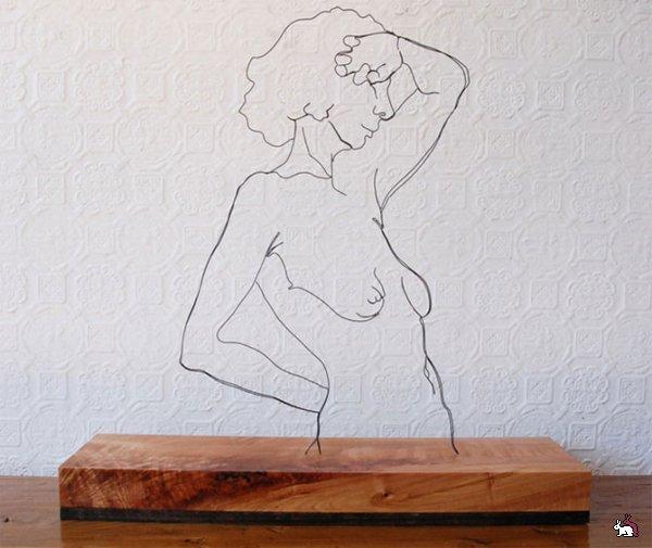 Двухмерные скульптуры из проволоки