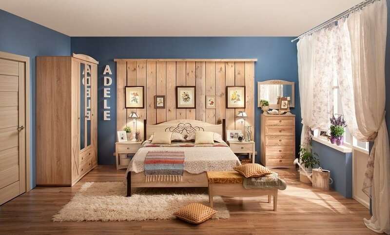 """спальня в """"деревенском"""" стиле"""
