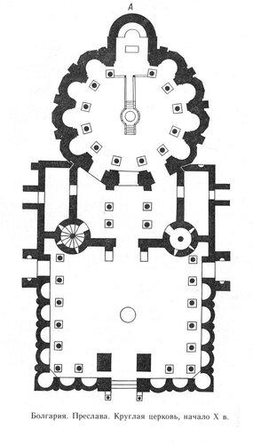 Храм в Преславе, план