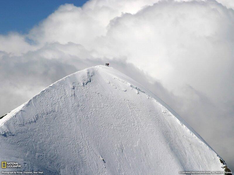 Западный Брейтхорн в Альпах. (фото Victor Troyanov)