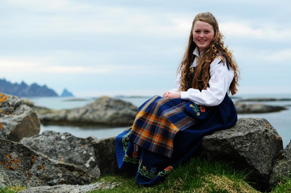Норвежский национальный костюм.