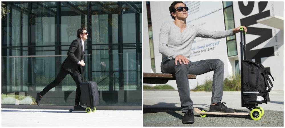Бостьян Загар изСловении придумал чемодан, который позволяет своему обладателю добраться източки «