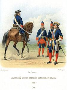 Чины регулярных полков русской армии в годы Северной войны.