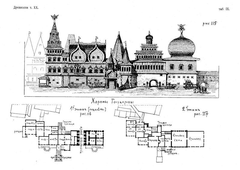 Рисунки 115-117. Царский дворец в Коломенском. Потапов Алексей Александрович