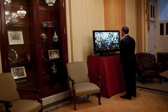 Барак Обама и Panasonic Viera