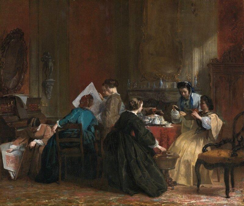 Первая картина про стереофотографию. 1850-е