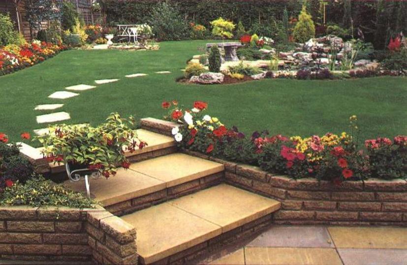 Фото ландшафтный дизайн садового участка
