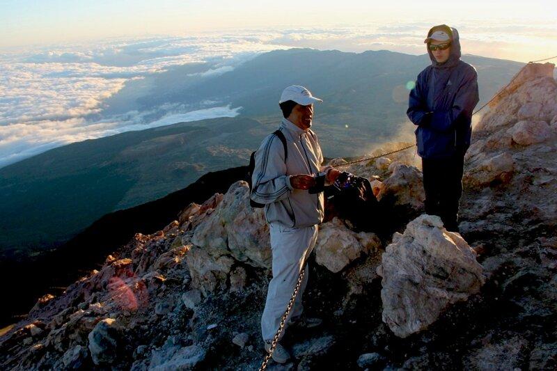 Утренняя тень Тейде (La sombra del Teide al amanecer)