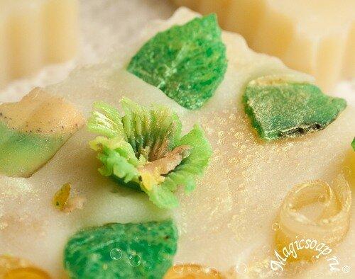 Цветочная поляна - идеи декора для мыла с нуля! Часть 2 (рецепт мыла)