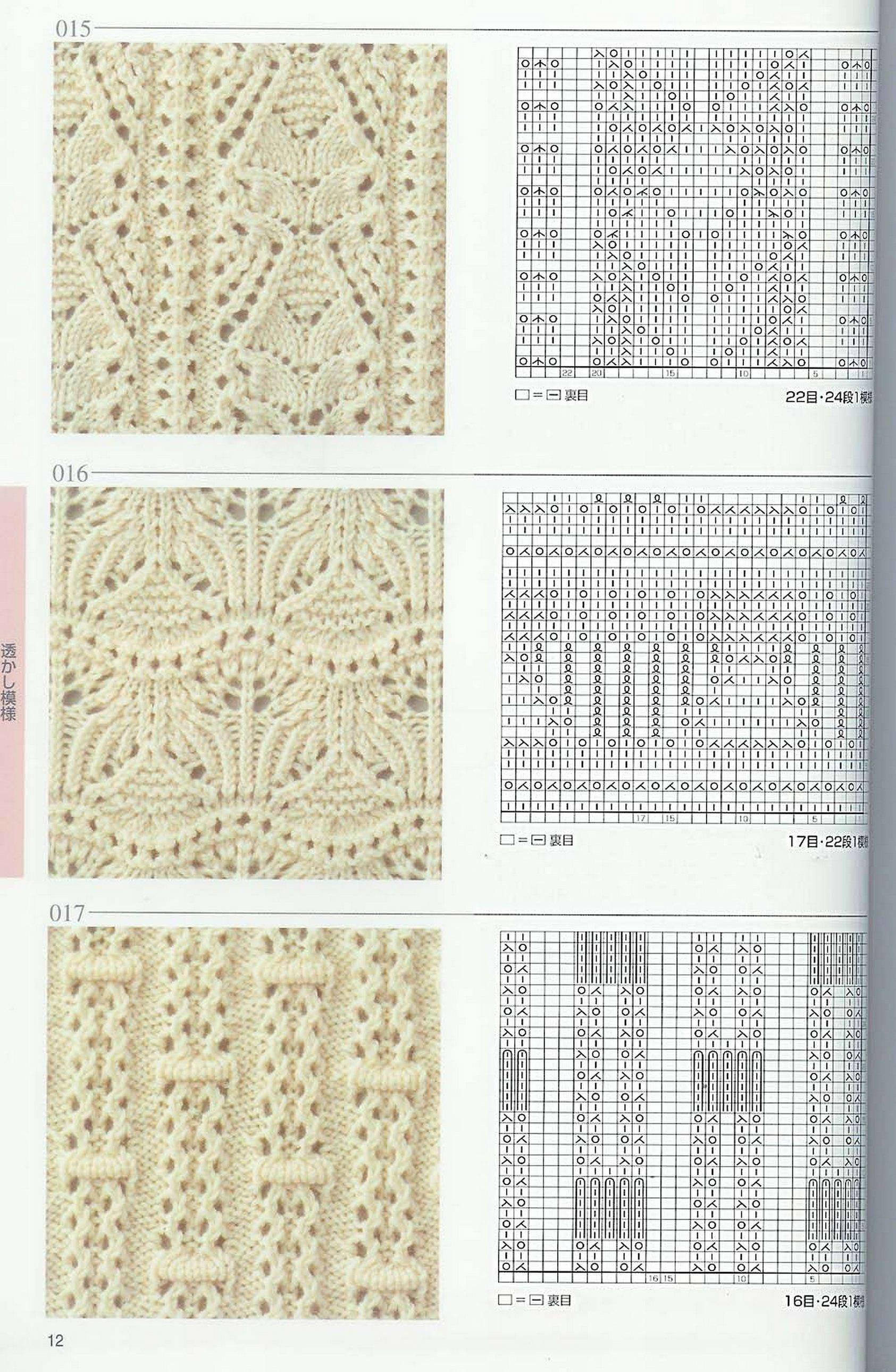 Схемы японских моделей спицами