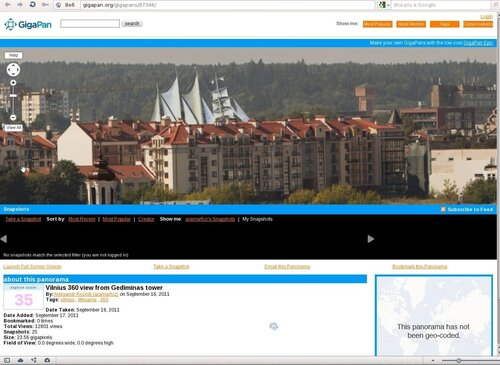 Vilnius 360 view from Gediminas tower