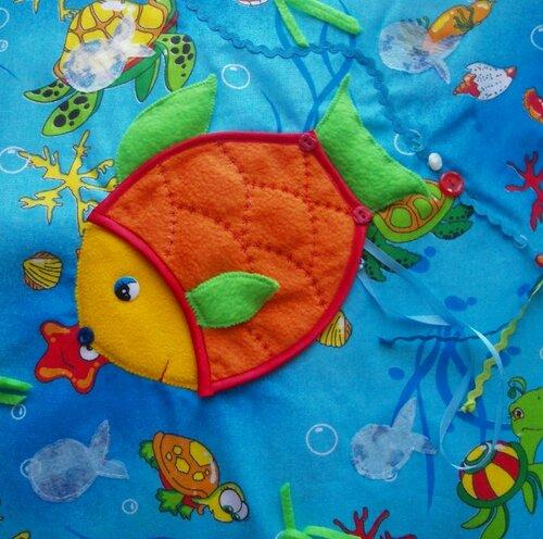 Развивающая книжка для детей... страничка Рыбка!