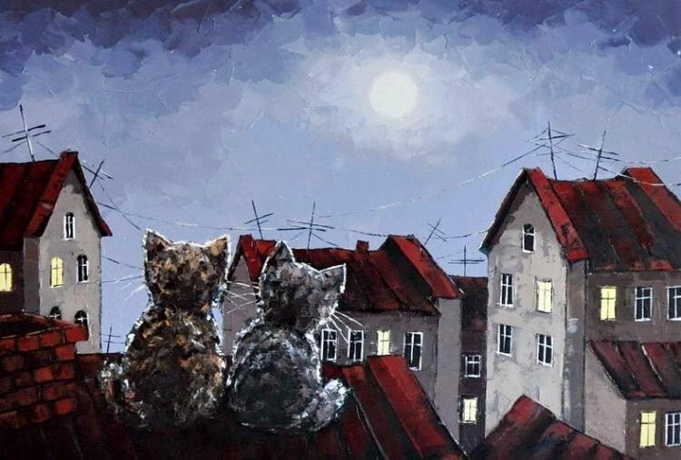 Александр Гунин. На крыше.