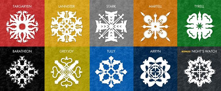Символы домов из книги «Игра престолов»: Аррены Баратеоны Грейджои Ланнистеры Мартеллы Старки Таргар