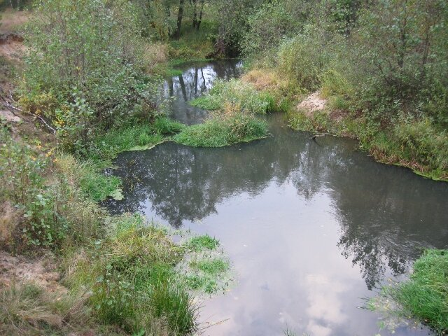 ... река теснится в узком русле