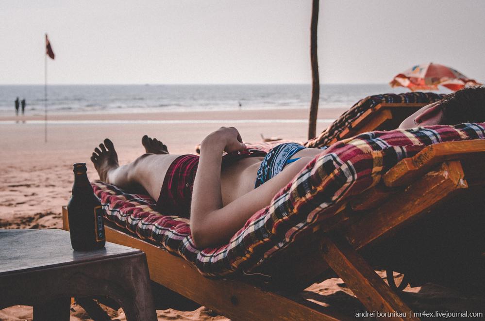 Индия, Гоа, Ашвем, Goa, Ashvem, Indian relax