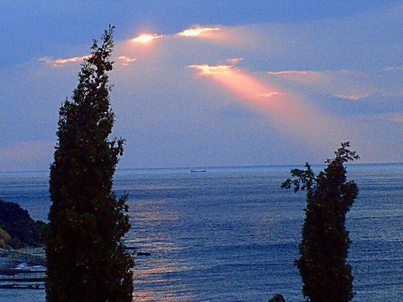 Крым,Чёрное море,Симеиз,осень,восход