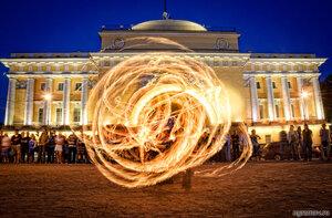 Огненные забавы (Адмиралтейство, ночь, огонь)