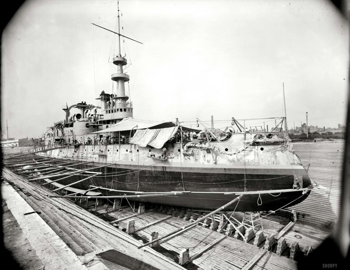 Корабли, речные суда и военные моряки на снимках американских фотографов конца 19 века (33)