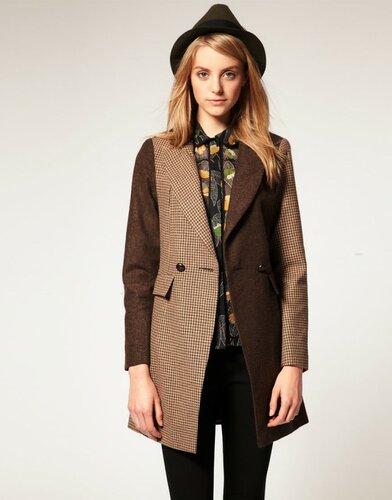 Asos Slim Coat In Heritage Check $175