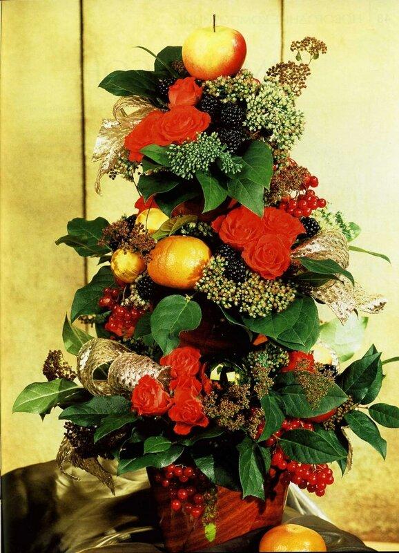 Новогодние композиции. Школа флористики