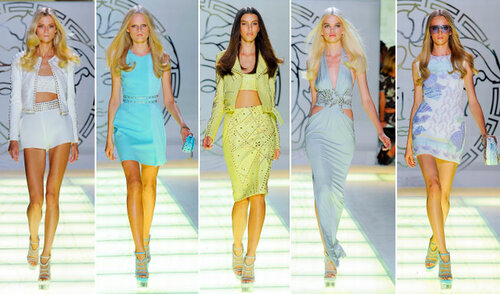 Versace milan fashion week spring summer 2012