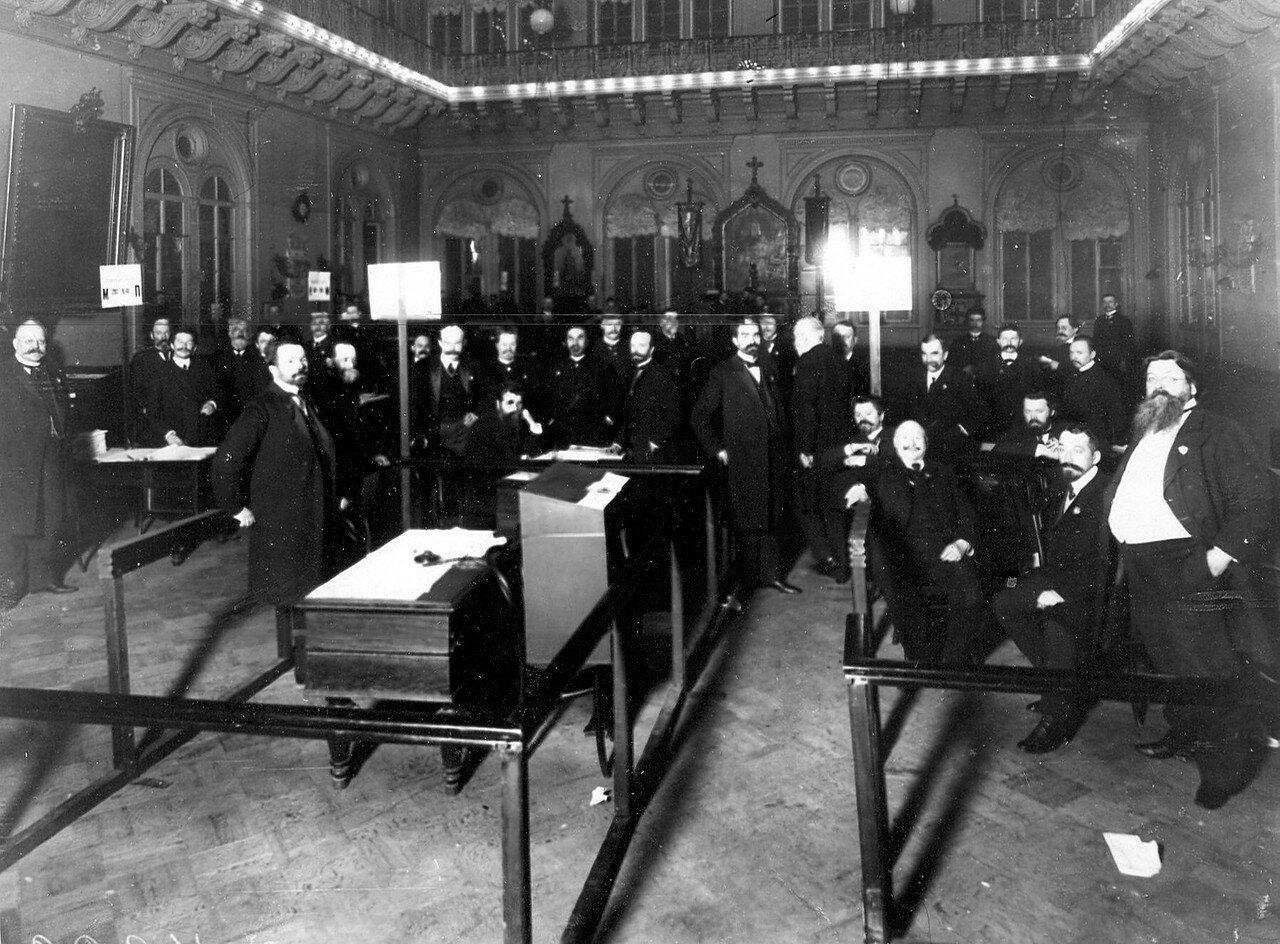 20 марта 1906. Избирательная комиссия по выборам выборщиков в Первую Государственную думу в зале Городской думы.