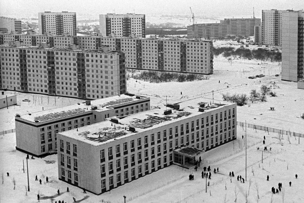 1976. Новые жилые дома в Красногвардейском районе