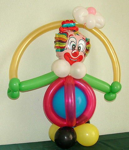 Своими руками клоун на палочке