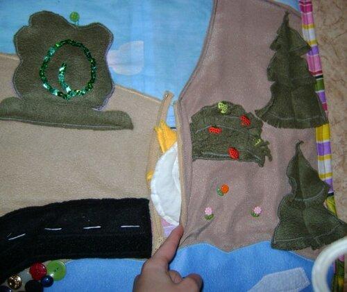 Развивающие коврики для малышей... холм, карман