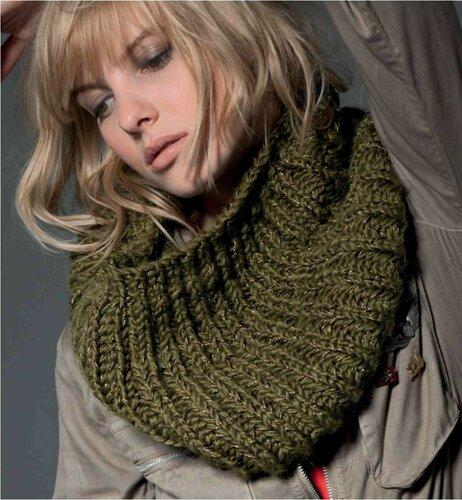 шарф труба как связать красивый шарф, схема вязания забавных зайчиков.