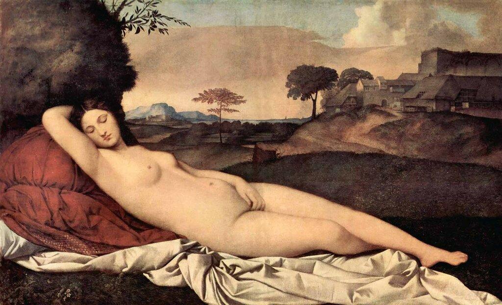 Джорджоне. Джорджо Барбарелли да Кастельфранко . «Спящая Венера»