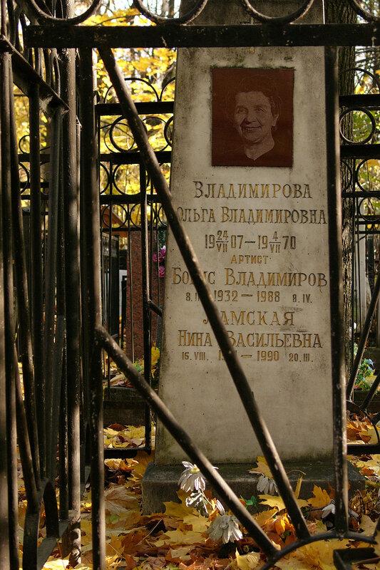 Бори́с Па́влович Влади́миров  Ваганьково и Новодевичье кладбища. Некрополи в фотографиях. Могилы знаменитостей