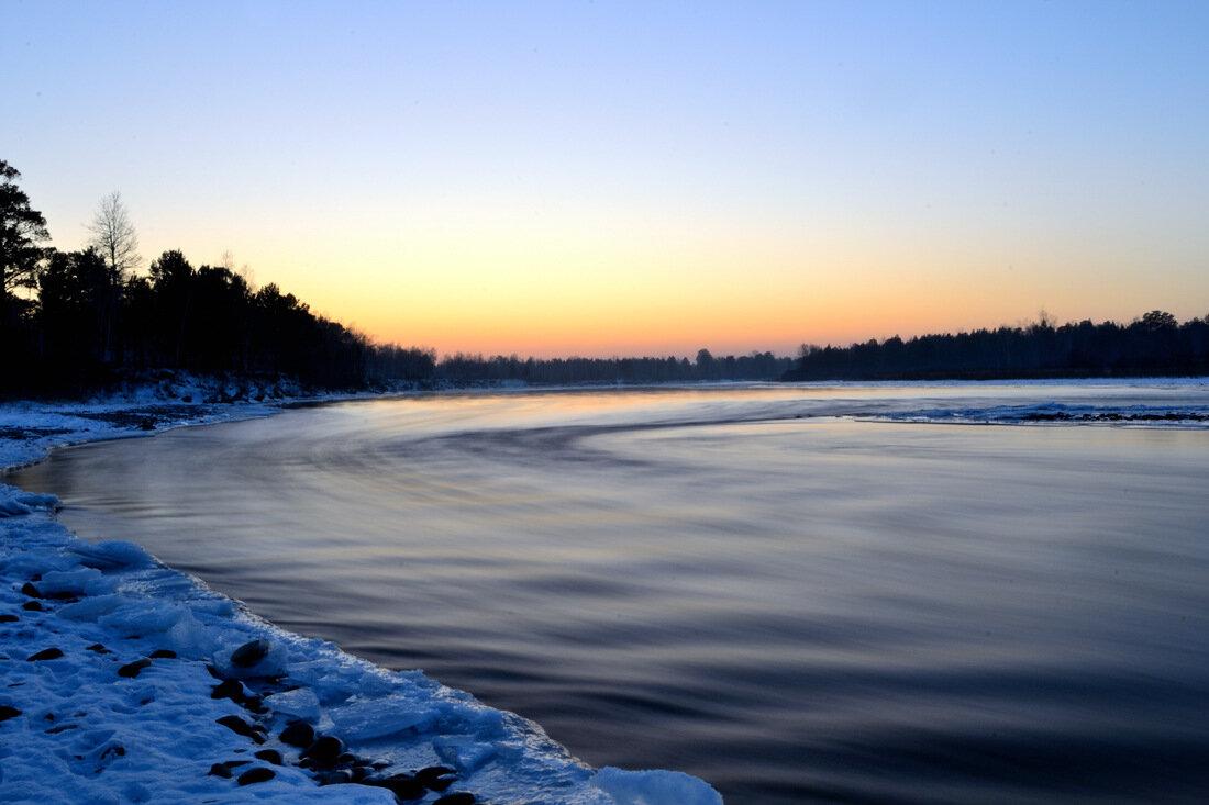 река Китой зимой