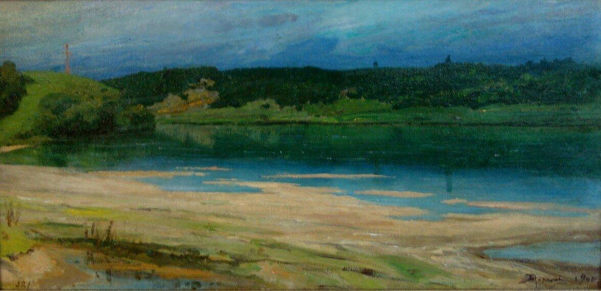 Василий Дмитриевич Поленов. Речной пейзаж. 1900